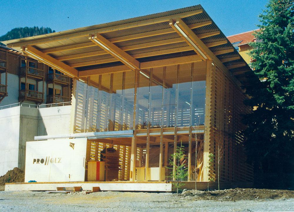 proholz pavillon the cube helmut hafner architekt di. Black Bedroom Furniture Sets. Home Design Ideas